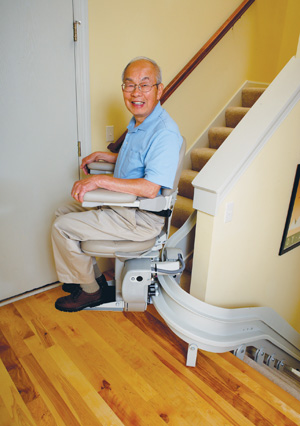 Elite Indoor Curved Rail Stairlift