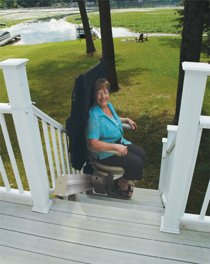 Outdoor Straight Rail Stair Lift