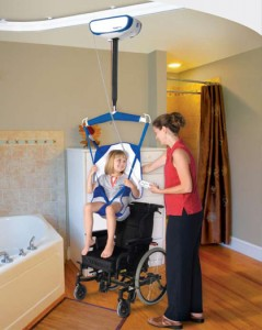 mounted ceiling lift
